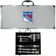 New York Rangers 8 Piece Stainless Steel BBQ Set w/Metal Case