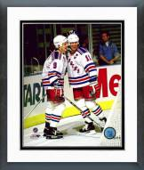 New York Rangers Adam Graves & Mark Messier Action Framed Photo