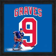 New York Rangers Adam Graves Uniframe Framed Jersey Photo