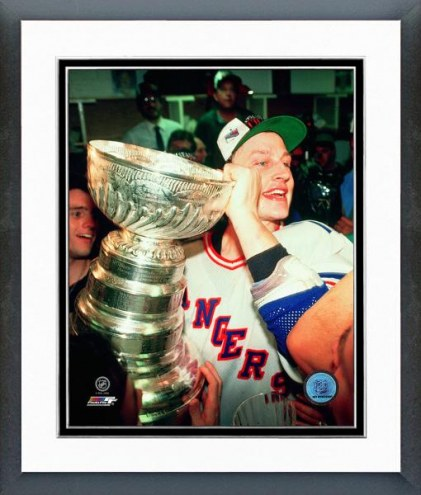 New York Rangers Adam Graves with the 1994 Stanley Cup Framed Photo