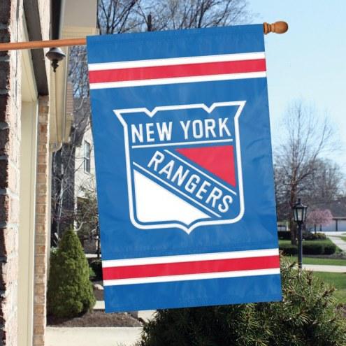 New York Rangers Applique Banner Flag