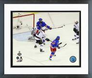 New York Rangers Benoit Pouliot 2014 Stanley Cup Finals Framed Photo