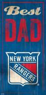 New York Rangers Best Dad Sign