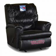 New York Rangers Big Daddy Leather Recliner