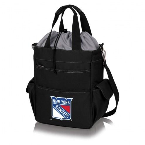 New York Rangers Black Activo Cooler Tote