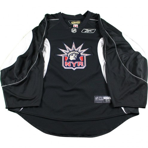 buy popular 21a12 834c8 New York Rangers Black and White Used Liberty Logo Practice Jersey (Size 58)
