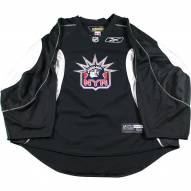 New York Rangers Black and White Used Liberty Logo Practice Jersey (Size 58)
