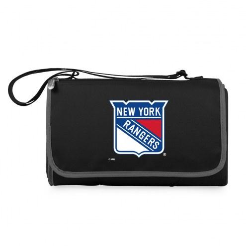 New York Rangers Black Blanket Tote