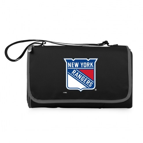 New York Rangers Black Blanket Tote