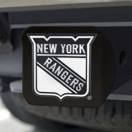 New York Rangers Black Matte Hitch Cover
