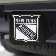 New York Rangers Black Matte Hitch Cover