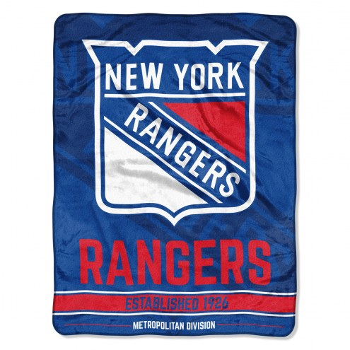 New York Rangers Break Away Blanket