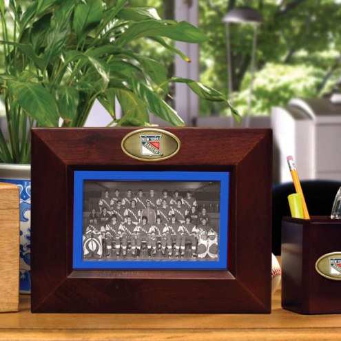 New York Rangers Brown Landscape Picture Frame