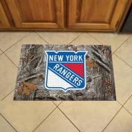 New York Rangers Camo Scraper Door Mat