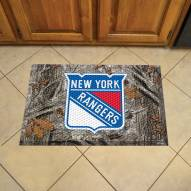 New York Rangers Camo Scraper Door Mat