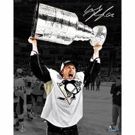 """New York Rangers Carl Hagelin Holding Stanley Cup Signed 16"""" x 20"""" Photo"""
