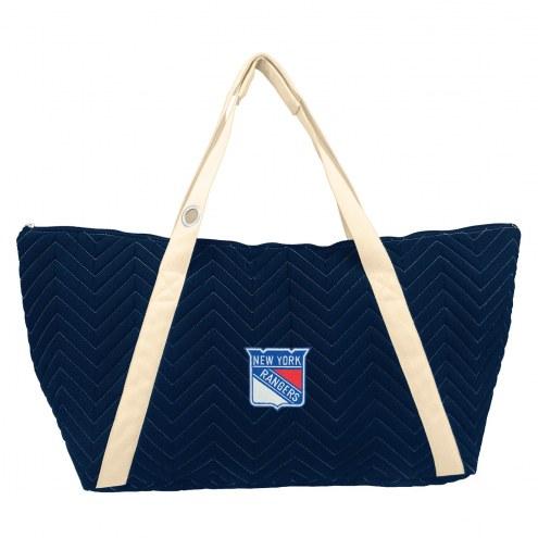 New York Rangers Chevron Stitch Weekender Bag