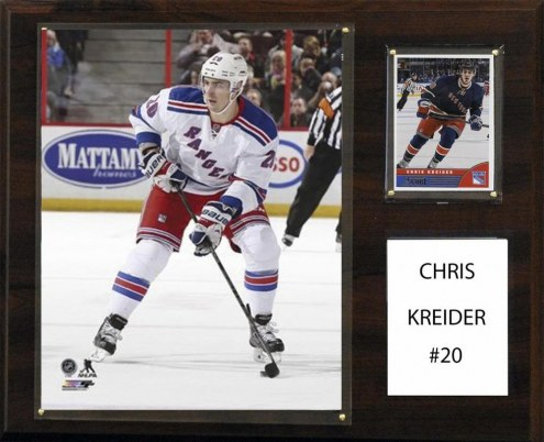 "New York Rangers Chris Kreider 12"" x 15"" Player Plaque"