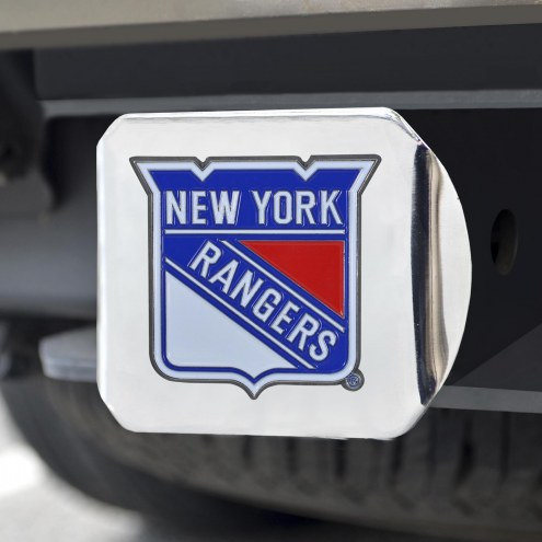 New York Rangers Chrome Color Hitch Cover