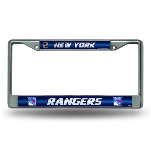 New York Rangers Chrome Glitter License Plate Frame