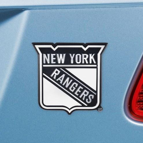 New York Rangers Chrome Metal Car Emblem