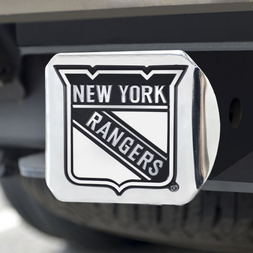 New York Rangers Chrome Metal Hitch Cover