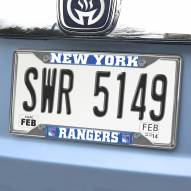 New York Rangers Chrome Metal License Plate Frame