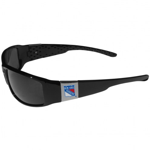 New York Rangers Chrome Wrap Sunglasses