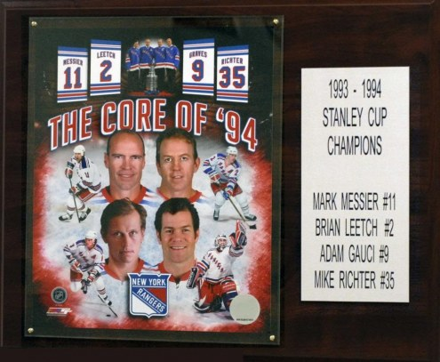 "New York Rangers Core Four 12"" x 15"" Player Plaque"