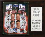 "New York Rangers Core Four 12"" x 15"" Player Plaque"
