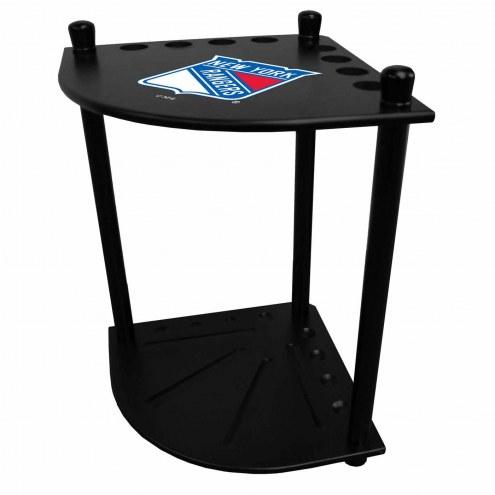 New York Rangers Corner Pool Cue Rack