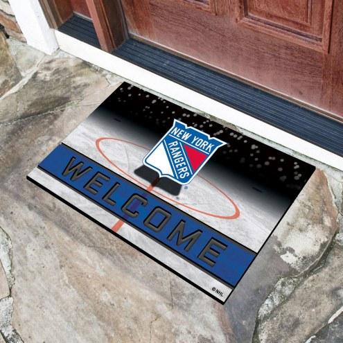 New York Rangers Crumb Rubber Door Mat