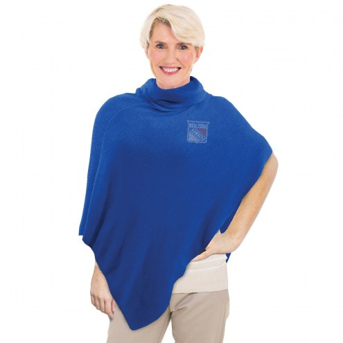 New York Rangers Crystal Knit Poncho