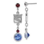 New York Rangers Crystal Logo Earrings