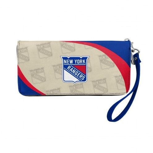 New York Rangers Curve Zip Organizer Wallet