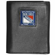 New York Rangers Deluxe Leather Tri-fold Wallet in Gift Box