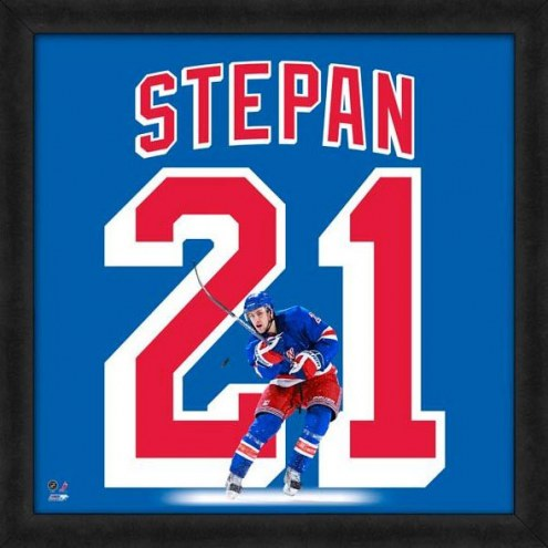 New York Rangers Derek Stepan Uniframe Framed Jersey Photo