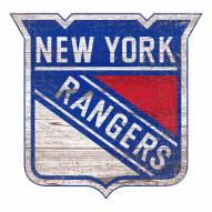New York Rangers Distressed Logo Cutout Sign