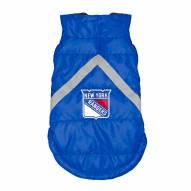 New York Rangers Dog Puffer Vest