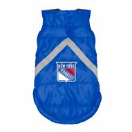New York Rangers Dog Puffer Vest