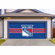 New York Rangers Double Garage Door Cover