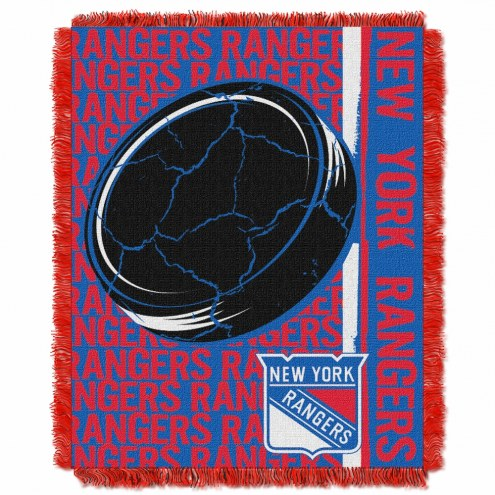 New York Rangers Double Play Woven Throw Blanket