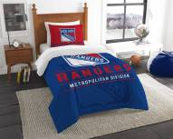 New York Rangers Draft Twin Comforter Set