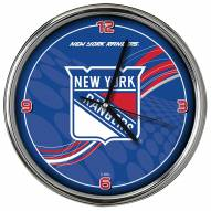 New York Rangers Dynamic Chrome Clock