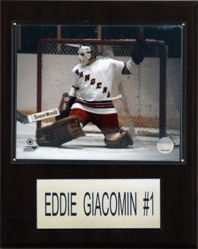"New York Rangers Eddie Giacomin 12"" x 15"" Player Plaque"