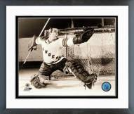 New York Rangers Eddie Giacomin Action Framed Photo