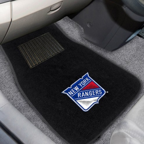 New York Rangers Embroidered Car Mats