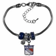 New York Rangers Euro Bead Bracelet