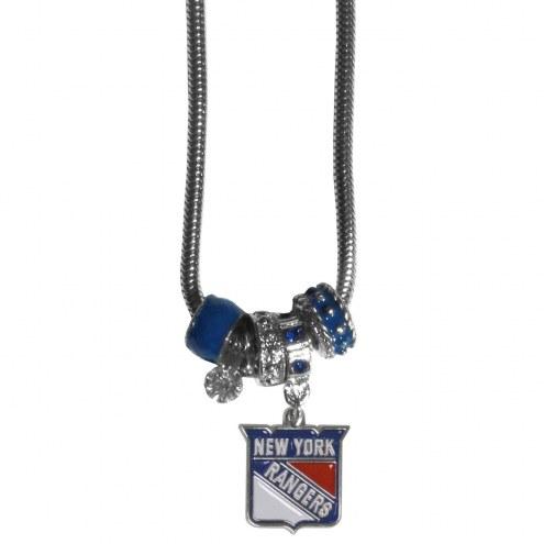 New York Rangers Euro Bead Necklace