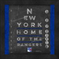 New York Rangers Eye Chart